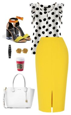 """Non-Boring Work Outfit 5"" by onyxbertha on Polyvore featuring Michael Kors, Karl Lagerfeld and Liberty"