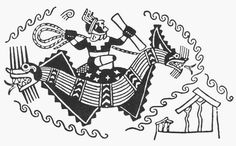 South American Reed boat design on early Chimu pottery