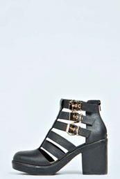 Jess Cut Work Multi Strap Boot