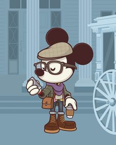 NEW Hipster Mickey art to debut at WonderGround Gallery Saturday August 9th. I'll be there from 11am to 1 pm. Come by and say hello!