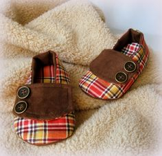 Plaid Baby Loafers