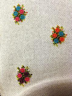 Cross stitch pendant Blue and Pink от BlackCatHandmadeShop