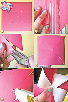 Pinwheel tutorial..;}