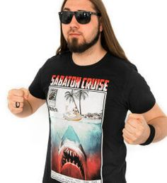 Sabaton Cruise 2014 - Jaws This shirt is still available so be quick about it. Limited print made for Sabaton Cruise. Designed by Chris Rorland