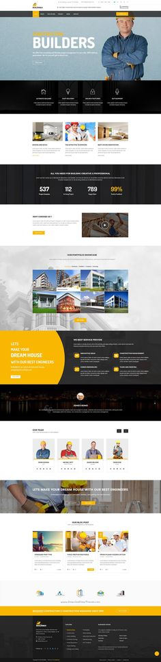 Buildinex is a clean premium #PSD templates for construction firm, #Business firm, Architect, Engineering #Builders website download now➯ https://themeforest.net/item/buildinex-construction-business-psd-templates/16827237?ref=Datasata