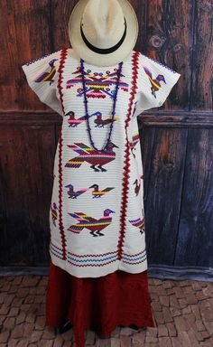 Traditional Hand Woven & Embroidered Chinantec Huipil Oaxaca Mexico Hippie Boho #Handmade #DressHuipilMexicanDress