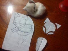 Sleeping fox,mini plushie patterns by ShioriAtzuko.deviantart.com on @deviantART