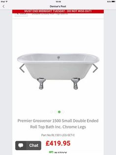 Bath End Roll, Roll Top Bath, Chrome, Bathroom, Washroom, Bath Room, Bath, Bathrooms