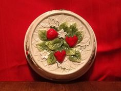 Sears Roebuck and Co. 1981 Strawberry Ceramic Wall Hanging Made In Japan