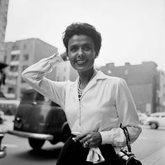 Photograph of Lena Horne by Vivian Maier - NY, Sept. 30, 1954