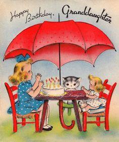 Tardes saludos Vintage Tea Party de los años por poshtottydesignz, $3.00