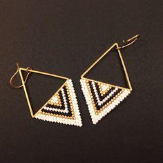Handmade Wire Jewelry, Earrings Handmade, Diy Jewelry, Jewelry Making, Seed Bead Jewelry, Bead Jewellery, Seed Bead Earrings, Girls Earrings, Cheap Earrings