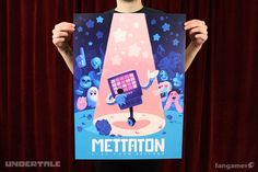 """Are you promoting my brand?Celebrate your timein Mettaton's live studio audience with the official tour poster.This Undertaledesign by Gigi D.G.is available as an offset print measuring 18"""" by 24""""."""