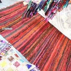 Orange Rug Outdoor Chindi Throw Rag Rugs
