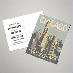 Chicago wedding save the date