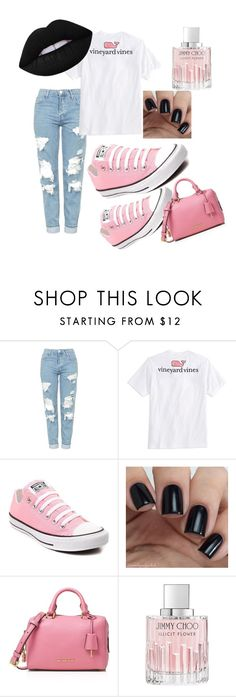 """Blame It On The #Black"" by thakidd on Polyvore featuring Topshop, Vineyard Vines, Converse, MICHAEL Michael Kors and Jimmy Choo"