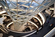 Interior detail of MyZeil Shopping Mall in Frankfurt, Germany by Studio Fuksas