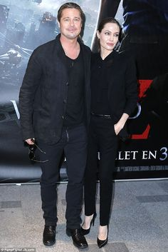 Power couple: Brad and Angelina wowed fans as they took to the red carpet together