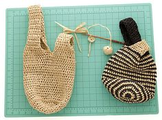Japanese Knot Bag to crochet using Universal Yarn's Yashi - free pattern!