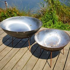 Mild Steel Fire Pits with Iron Stands available in various sizes. Steel Fire Pit, Fire Pits, Stove Fan, Fire Bowls, Corten Steel, Wood Burner, Wood Storage, Iron, Campfires