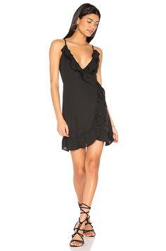 LIONESS All Summer Long Ruffle Dress in Black