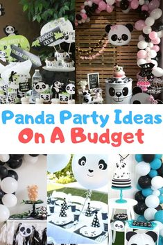 Easy panda party decorations DIY on a budget, panda birthday idea for girl and boy visit our website to see our list ideas Panda Decorations, Easy Party Decorations, Birthday Party Decorations, 5th Birthday Party Ideas, 1st Boy Birthday, Boy Birthday Parties, Panda Party Favors, Panda Themed Party, Panda Birthday Cake
