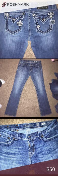 Miss Me Size 31 31 Waist 33 Inseam, Excellent Shape Miss Me Jeans Boot Cut
