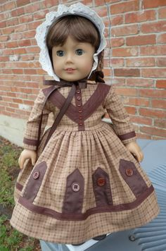 18 Doll Clothes Historical Civil War Gown and Bonnet Fits American Girl Marie Grace, Cecile, Addy American Doll Clothes, Ag Doll Clothes, Doll Clothes Patterns, Doll Patterns, Wellie Wishers Dolls, Civil War Dress, Girl Dolls, Girl Fashion, Girl Outfits