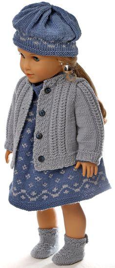 baby born kleidung stricken anleitung - Das Puppen-Frühjahrsoutfit - in blau und grau
