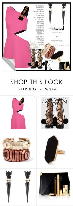 """""""Sem título #3506"""" by mr-1 on Polyvore featuring moda, FAUSTO PUGLISI, Gucci, Rosantica, Jaeger, Alexis Bittar e Yves Saint Laurent"""