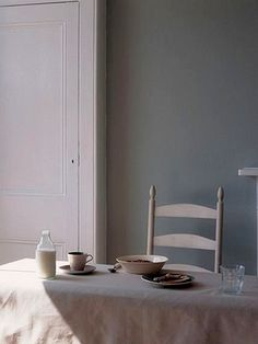 dining table, natural soft colors