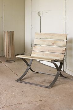 Kalalou Recycled Wood Barcelona   Inspired Chair