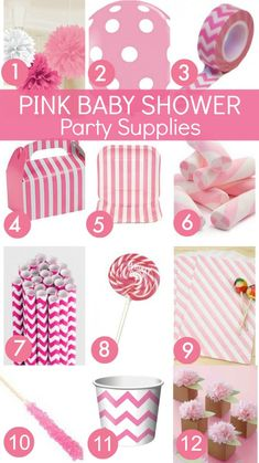 Need fabulous pink baby shower party supplies? Check out the Catch My Party Store! | CatchMyParty.com