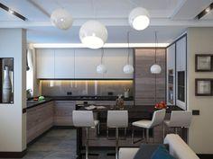Гостинная-кухня диз /виз/.... 3D max/Vray/PS - Галерея 3ddd.ru