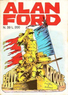 """Alan Ford n.39 """"Belle Epoque"""", di Magnus [Roberto Raviola], chine di Giovanni Romanini - settembre 1972"""