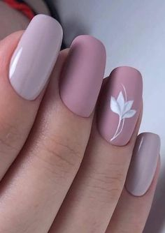 Nov 2019 - 56 Beautiful Short Nail Art Design Ideas To Try In Summer 2019 These trendy Nail Designs ideas would gain you amazing compliments. Check out our gallery for more ideas these are trendy this year. Rose Nails, Flower Nails, Matte Nails, My Nails, Nails With Flower Design, Stylish Nails, Trendy Nails, Dusty Pink Nails, Almond Acrylic Nails