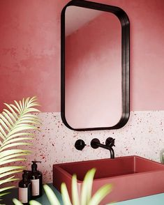 Terrazzo is back and better than ever before. From a chic statement bathroom to a boho eclectic office, here are five terrazzo-filled rooms we love. Bathroom Interior Design, Modern Interior Design, Modern Decor, Interior Decorating, Decorating Ideas, Luxury Interior, Modern Furniture, Restroom Design, Interior Colors