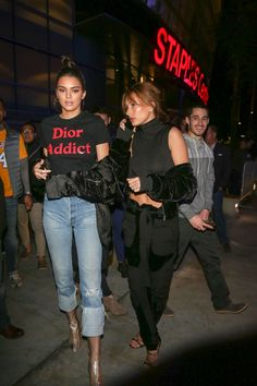 """baldwinupdates: """"January 3: [HQs] Hailey and Kendall Jenner leaving the Staples Center in Los Angeles """" http://its-vogue-baby.tumblr.com/"""