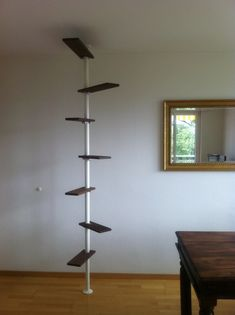 IKEA-based balcony cat ladder (indoors for testing purposes) | von victor*f