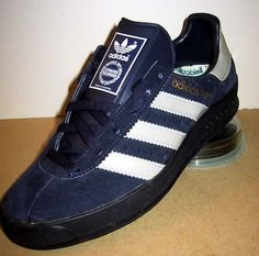 Adidas AS 700 in navy and white