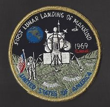 FIRST LUNAR LANDING OF MANKIND 1969 APOLLO 11  NASA SPACE PATCH