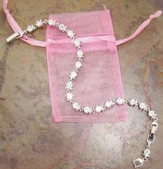 Swarovski Crystal Tennis Bracelet & Earring Set, Gift-Boxed  #Swarovski