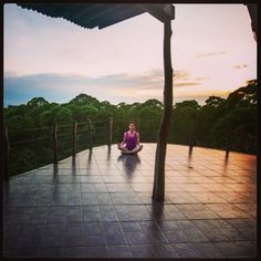 Meditation in Galapagos. Soaking up the peace and quiet of Semilla Verde.