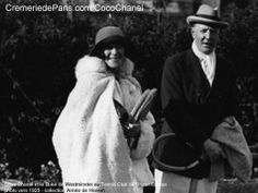 Coco Chanel & the Duke of Westminster at the Tennis Club of the Carlton…