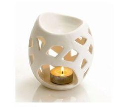 BULK - White Ceramic Oil/melt Burner for sale online Ceramic Clay, Ceramic Painting, Ceramic Pottery, Ceramic Oil Diffuser, Chandeliers, Ceramic Candle Holders, Oil Burners, Pots, Ceramic Design
