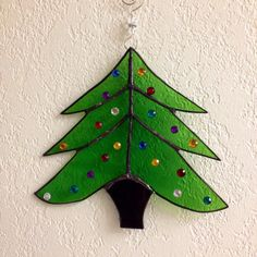 Stained Glass Christmas Tree by ArtfeltGlass on Etsy