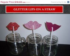 ON SALE NOW Set of 24 Glitter Lips and Shimmer by shoppe3130, $14.40