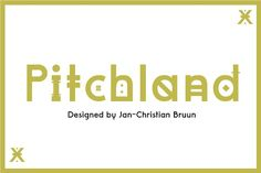 """Pitchland is a modern font with three different weights. It was designed for a clothing brand project. The idea was to first make two different fonts, but became three fonts. Two of them are """"Decorative"""" in two versions, where there are different characters in each font. The font is inspired by old signs from Manchester and other English towns. I also found a lot of inspiration from both old and new beer edikets and where the writing is very different. The idea was to create a font that has…"""