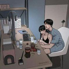 Love Cartoon Couple, Cute Couple Comics, Cute Love Cartoons, Anime Love Couple, Cute Couple Drawings, Anime Couples Drawings, Anime Couples Manga, Cute Couple Gifts, Cute Couple Art