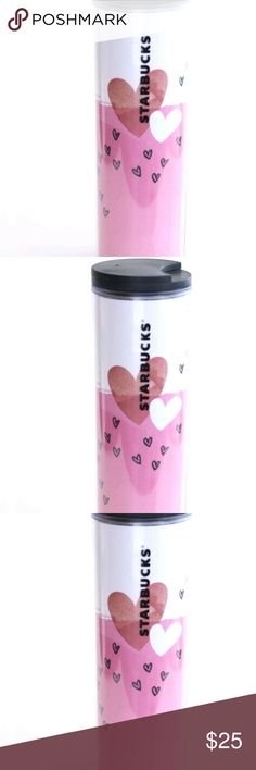 Starbucks New Valentine's Acrylic Tumbler 16 Oz Do Starbucks New Valentine's Acrylic Tumbler 16 Oz Double Wall Pink White Hearts   Brand new starbucks cup 2017 valentine's  Ship same day or next business day starbucks Other
